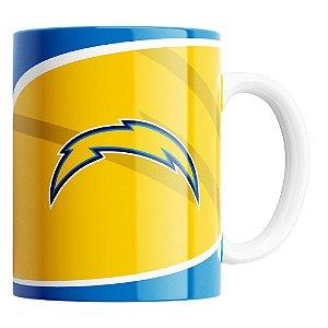 Caneca NFL Los Angeles Chargers de Porcelana 325ml