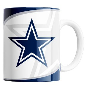 Caneca NFL Dallas Cowboys de Porcelana 325ml