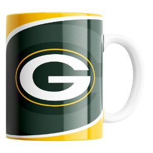 Caneca NFL Green Bay Packers de Porcelana 325ml