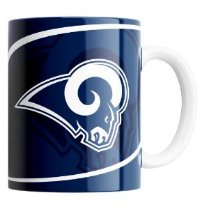 Caneca NFL Los Angeles Rams de Porcelana 325ml