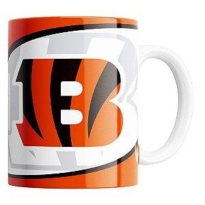 Caneca NFL Cincinnati Bengals de Porcelana 325ml