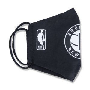 Máscara New Era Brooklyn Nets NBA Logoman Lavável Preto