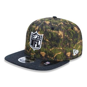 Boné New Era NFL 950 Revisited Camuflado Logo Aba Reta