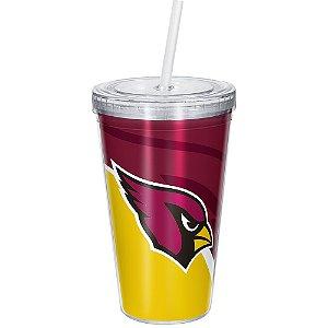 Copo Com Canudo Luxo NFL Arizona Cardinals
