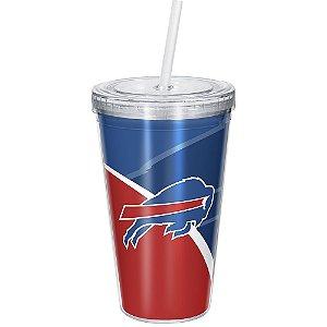 Copo Com Canudo Luxo NFL Buffalo Bills