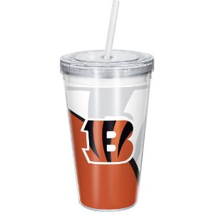 Copo Com Canudo Luxo NFL Cincinnati Bengals