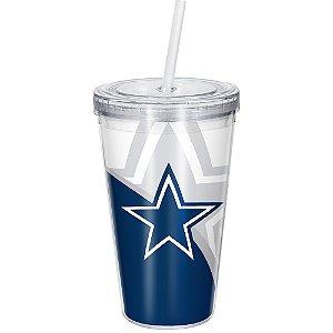 Copo Com Canudo Luxo NFL Dallas Cowboys