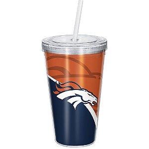 Copo Com Canudo Luxo NFL Denver Broncos