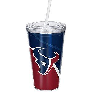 Copo Com Canudo Luxo NFL Houston Texans