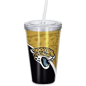 Copo Com Canudo Luxo NFL Jacksonville Jaguars