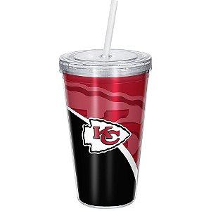 Copo Com Canudo Luxo NFL Kansas City Chiefs