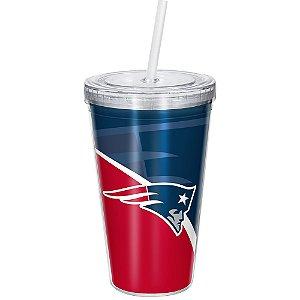 Copo Com Canudo Luxo NFL New England Patriots