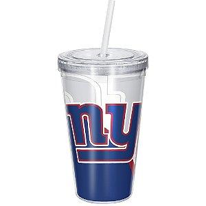 Copo Com Canudo Luxo NFL New York Giants