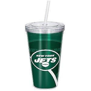 Copo Com Canudo Luxo NFL New York Jets