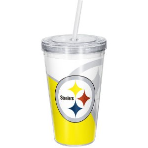 Copo Com Canudo Luxo NFL Pittsburgh Steelers