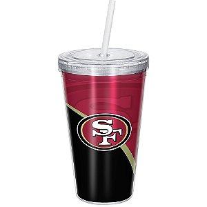 Copo Com Canudo Luxo NFL San Francisco 49ers