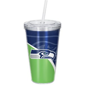 Copo Com Canudo Luxo NFL Seattle Seahawks