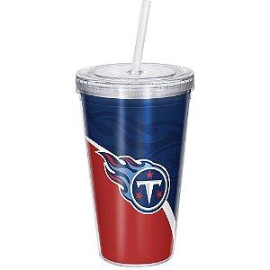 Copo Com Canudo Luxo NFL Tennessee Titans