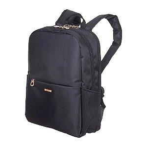 Mochila Sestini Slim Safe 2 Compartimentos Preto