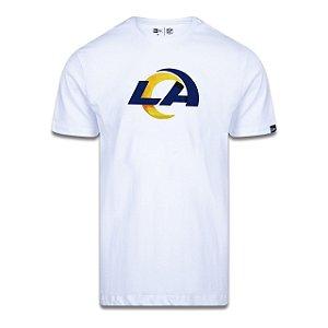 Camiseta New Era Los Angeles Rams Logo Time NFL Branca