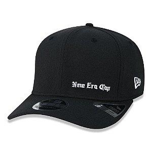 Boné New Era 950 Black Squad Cap Aba Curva Preto