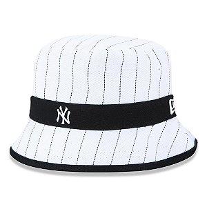 Chapéu Bucket New Era New York Yankees College Stripe Branco
