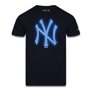 Camiseta New Era New York Yankees MLB Space Glow Preto