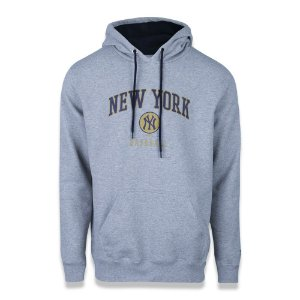 Moletom New Era New York Yankees MLB College School Cinza