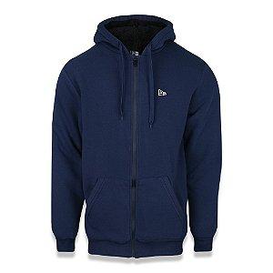 Moletom New Era Sazonal Fur Branded Aberto Azul Marinho