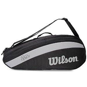 Raqueteira de Tênis Wilson Roger Federer Team 3 Pack Preto
