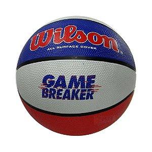 Bola de Basquete Wilson Game Breaker Azul Vermelho Branco