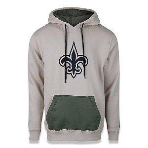 Moletom New Era New Orleans Saints NFL Canguru Military Kaki