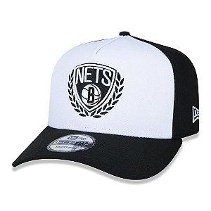 Boné New Era Brooklyn Nets NBA 940 A-Frame White Panel Preto