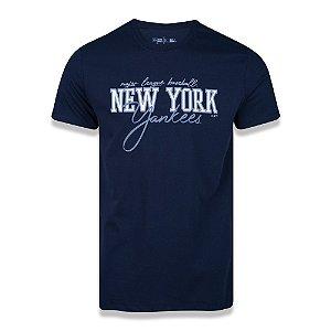 Camiseta New Era New York Yankees MLB Handwriting Azul