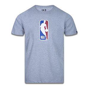 Camiseta New Era NBA Basic Logoman Cinza