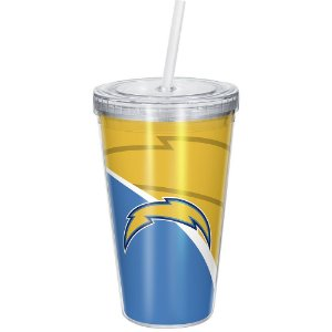 Copo Com Canudo Luxo NFL Los Angeles Chargers