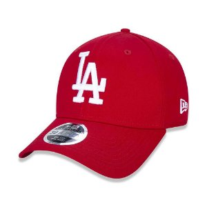 Boné New Era Los Angeles Dodgers MLB 3930 White on Red