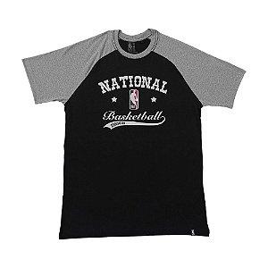 Camiseta NBA Logo Estampada Preto