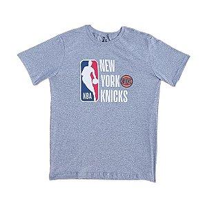 Camiseta NBA New York Knicks Estampada Cinza