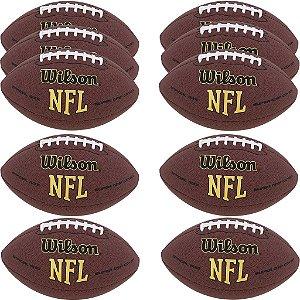 Kit com 10 Bolas NFL Super Grip Futebol Americano - Wilson