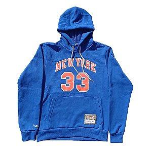 Moletom Canguru M&N New York Knicks NBA Fechado Ewing 33