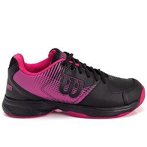 Tenis Wilson Ace Plus Feminino Preto e Pink