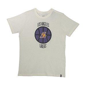 Camiseta NBA Los Angeles Lakers Estampada Off White