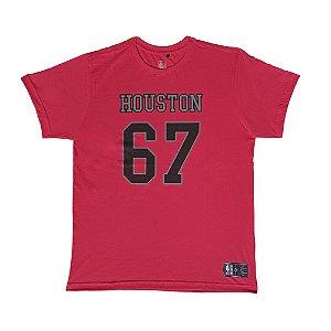 Camiseta NBA Houston Rockets Estampada Vermelho