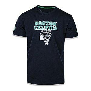 Camiseta New Era Boston Celtics NBA College Classic Preto