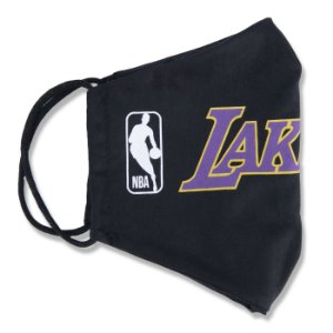 Máscara New Era Los Angeles Lakers NBA Logoman Lavável Preto