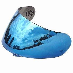 Viseira capacete X1000 XK - Espelhada Azul