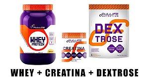 Kit Intermediário (3 Itens) -  Fullife Nutrition - Dextrose, Creatina e Whey