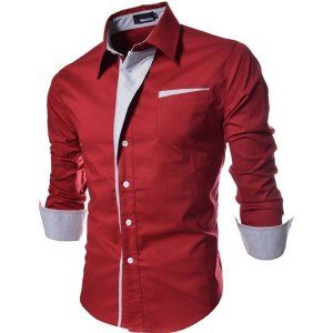 Camisa Masculina Casual Slim Fit Reveillon