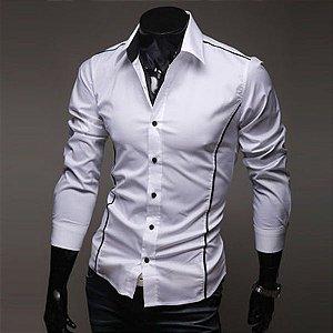 Camisa Masculina Casual Slim Fit Elegante